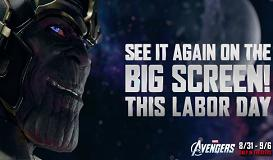 """""""Avengers"""" Labor Day theater re-release"""