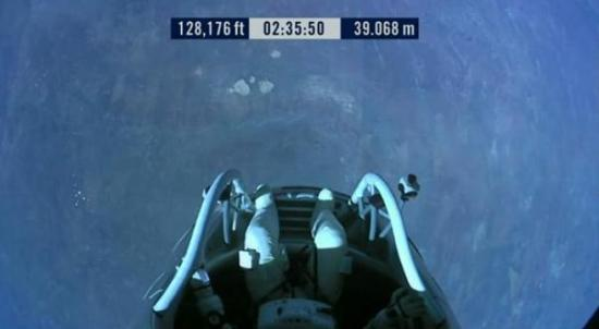 Felix Baumgartner, Red Bull Stratos freefall #livejump