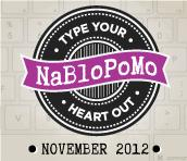 NaBloPoMo 2012 Badge