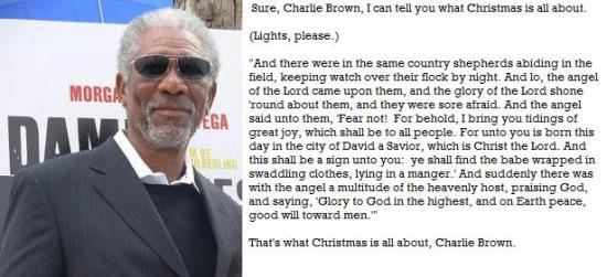 Christmas with Morgan Freeman