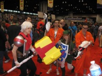 April 14th: Deadpool hangs out with video game cosplayers at the third annual C2E2 comics/entertainment convention.