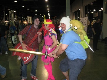 "August 11th: Cosplayers at Wizard World Chicago included these dedicated representatives of ""Adventure Time""."