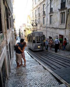 silver funicular, Lisbon, Portugal