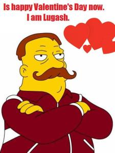 Lugash, Valentine's Day, The Simpsons