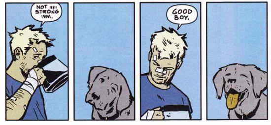 Hawkeye, Hawkguy, Lucky, Pizza Dog, good boy