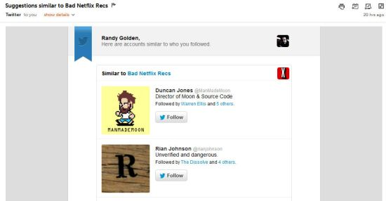 Twitter recommendations