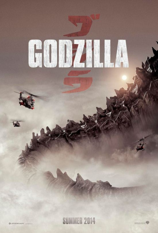 Godzilla movie teaser poster, America, 2014