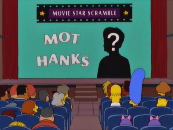 Mot Hanks, Simpsons