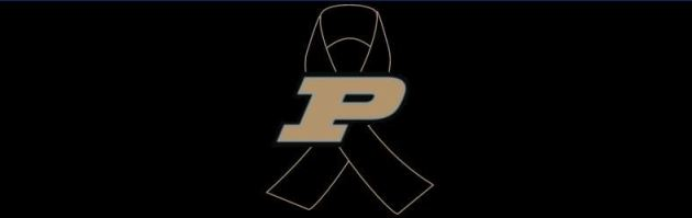 Purdue shooting black ribbon, 1/14/2014