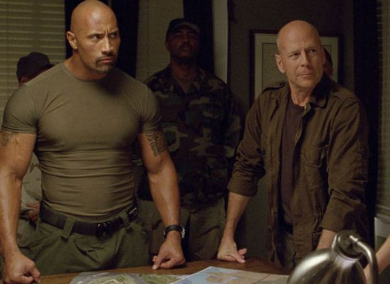 The Rock, Bruce Willis, GI Joe Retaliation