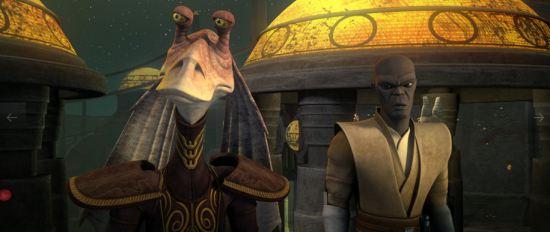 Jar-Jar Binks, Mace Windu, Star Wars, Clone Wars  Season Six