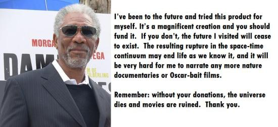 Fake Morgan Freeman endorsement