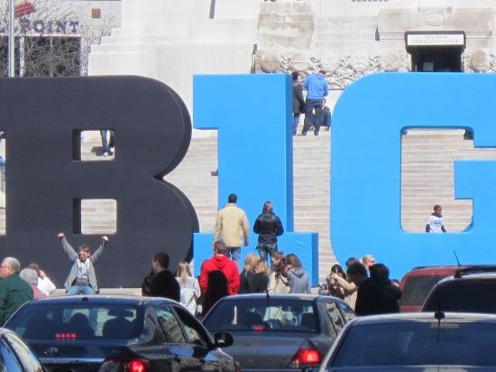 Big 10 sign, Monument Circle, Indianapolis