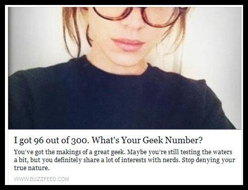 Geek Quiz Results