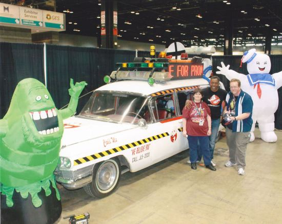 Ernie Hudson and the ECTO-1A