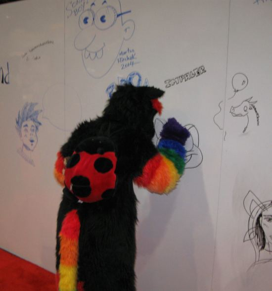 Furry graffiti artist