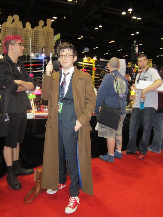 The Tenth Doctor, proper shoes included.