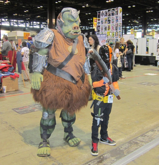 Gamorrean and Deathstroke: they fight crime!