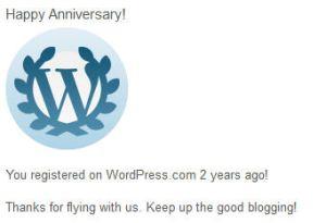 WordPress 2nd anniversary!