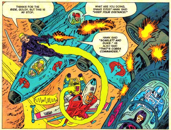 Psychedelic Transformers vs. GI Joe!