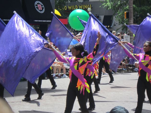Ben Davis High School Marching Giants Color Guard!