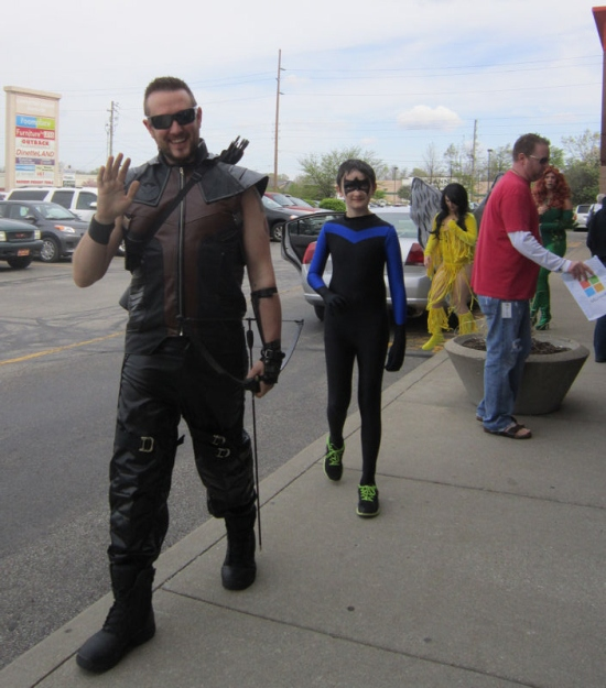 Hawkguy and Nightwing!