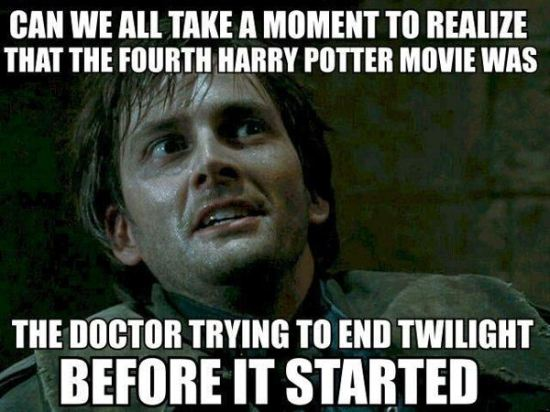 The Doctor v. Twilight v. Harry Potter