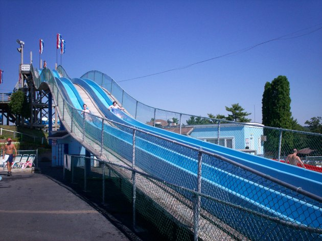 Waterslide Races!