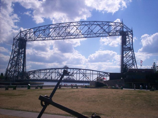 the Aerial Lift Bridge