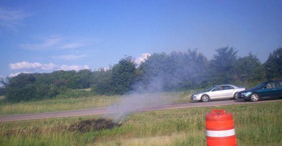 Roadside Fire!