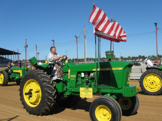 Granny on tractor