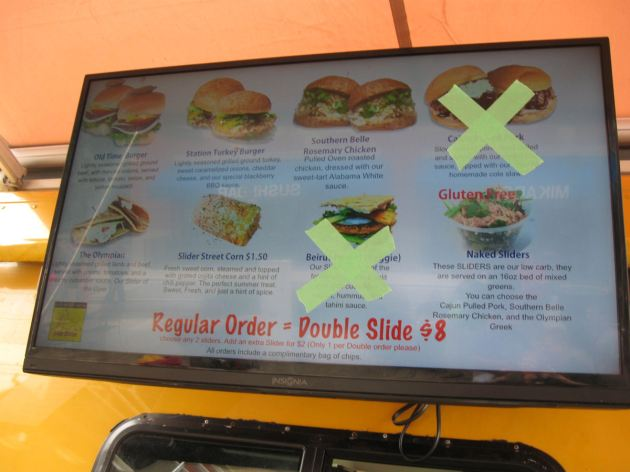Food truck menu!