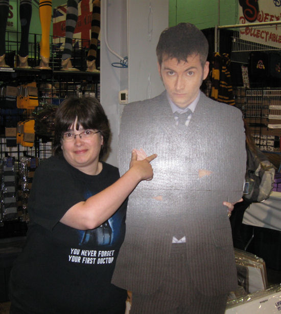 Cardboard Tenth Doctor!