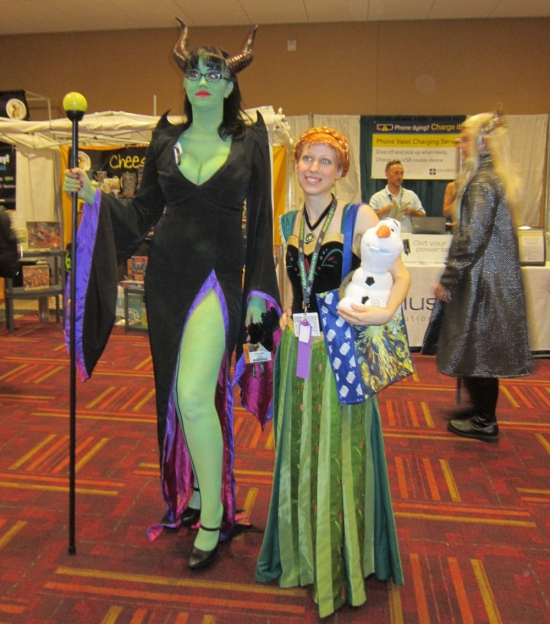 Maleficent and Anna!