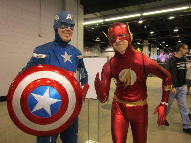 Flash and Cap!