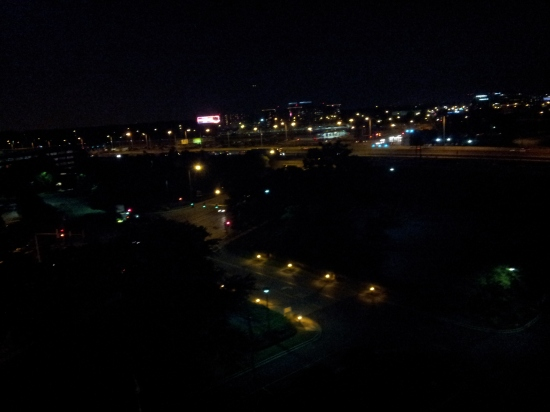 Nighttime in Rosemont.