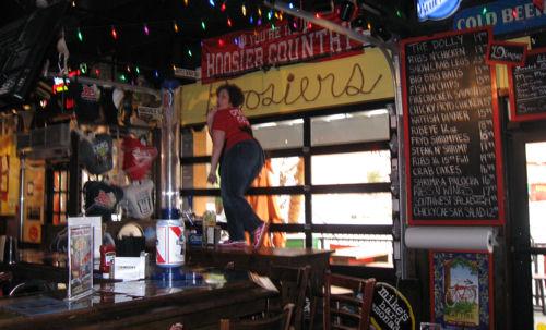 Table Dancing at Dick's!
