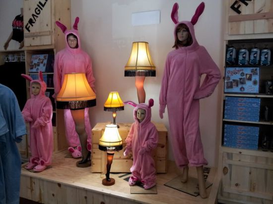 Pink Bunny Suits!