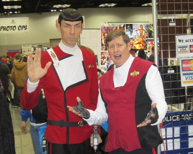 Spock and Kirk!