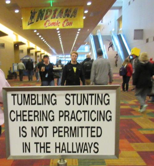 No Cheering!