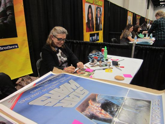 Carrie Fisher Autographing!