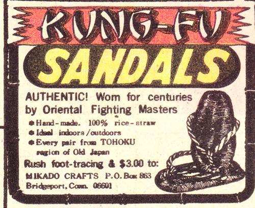 Kung Fu Sandals!