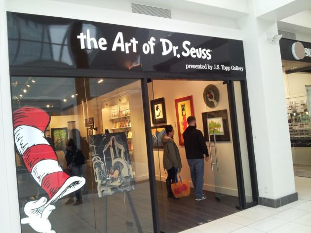 The Art of Dr. Seuss storefront!