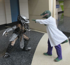 Lizard vs. Predator!