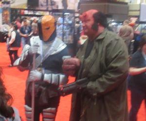 Deathstroke + Hellboy!