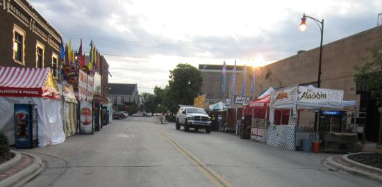 Fargo Street Fair, closed.