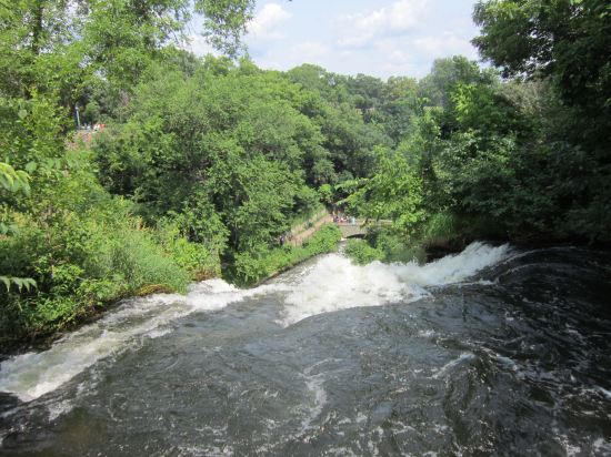 Over Minnehaha Falls!