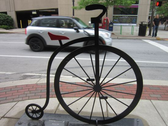 Penny-farthing rack!