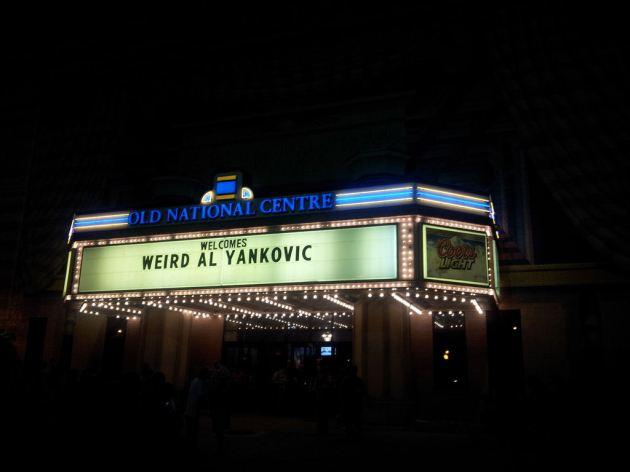 Weird Al Yankovic marquee!