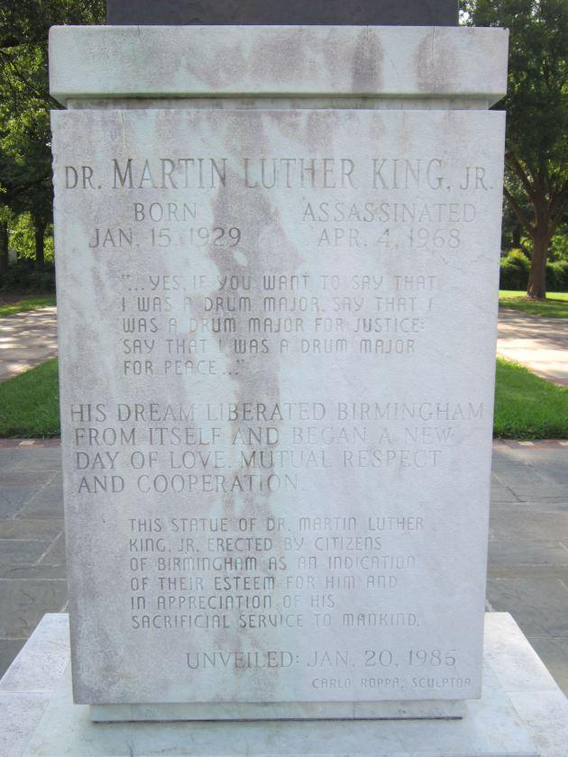 MLK Pedestal!